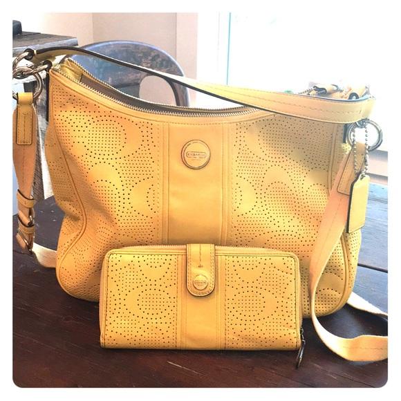 8b6c45d353 Coach Handbags - Yellow Coach Shoulder crossbody bag